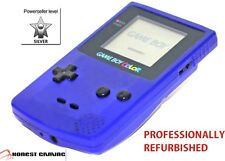 NEW GLASS SCREEN ------- PURPLE GRAPE NINTENDO GAME BOY COLOR, FULLY RESTORED