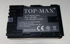 TOP-MAX LP-E6 LI-ION RECHARGEABLE BATTERIES FOR CANON 70D, 6D, 7D, 5D