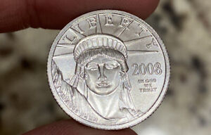 2008 $25 Platinum Eagle 1/4oz Bu Coin