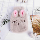 Bottle with Plush Soft Warm Hot Water Fluffy Faux Fur Cover Cute Adult Kids Cosy