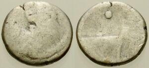 027. Greek Silver Coin. CHERSONESOS. AR Hemidrachm. Lion. VG