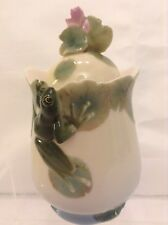 FRANZ PORCELAIN BABY FROG COVERED SUGAR POT FZ00174 GRT CONDTION DISPLAYED ONLY