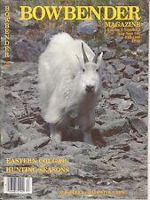 BOWBENDER Magazine Archery Elk Deer Goat Cougar Bow Hunting Fall 1986