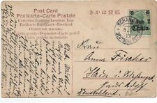 """1902 China Postcard to Germany with German Stamp overprinted """" China 2 Cents """""""
