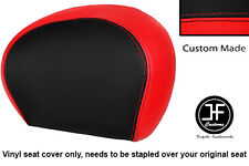 RED & BLACK VINYL CUSTOM FOR PIAGGIO VESPA 125 250 300 GTS BACKREST COVER ONLY