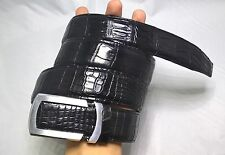 Black Genuine Alligator, CROCODILE Leather Skin Men's Belt # TL051