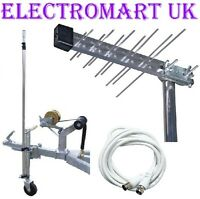 CARAVAN CAMPING TV DIGITAL FREEVIEW AERIAL KIT
