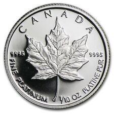 *Canada Platinum Maple 1/10oz Coin - 9995 Fine, Random Year, BU, Sealed*