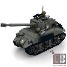 CUSTOM PDF Bauanleitung WW2 WWII Sherman Firefly Panzer Tank für LEGO® Steine
