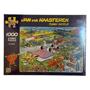 Brand New & Sealed Jan van Haasteren Funny World 1000pc Jigsaw Puzzle (Air Show)