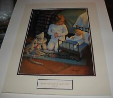 Kathy Lawrence THE LORD'S BLESSING Child's Prayer 16x12 Limited Ed matted print