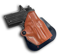 Premium Leather Paddle Holster Open Top Fits, Kimber Micro Raptor 380 ACP #1207#