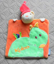 DOUDOU PLAT MARIONNETTE OURS POP DRAGON ORANGE VERT...KALOO