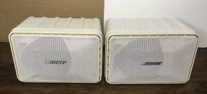 BOSE MODEL 101 Music Monitor Indoor/Outdoor Stereo Speakers White PAIR