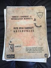 DUCATI OWNERS HANDBOOK AND WORKSHOP MANUAL OVER HEAD CAMSHAFT MOTORCYCLES Clymer
