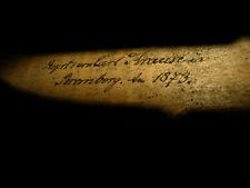 Very old violin - Sehr alte 4/4 Geige m. handschriftlicher Signatur