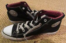 Converse Chuck Taylor Street Mid Shoes Black White Men 12 Women 14 EUC 142323F