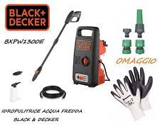 IDROPULITRICE 1300 W POTENZA BLACK DECKER BXPW1300E ACQUA FREDDA 100 bar 1300W