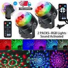 2 x Party Disco Lights Strobe Led Dj Ball Sound Activated Dance Lamp Decoration