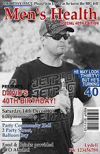 Personalised 18th 21st 30th 40th 50th Magazine Adult Birthday Invitations invite
