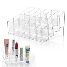 Clear 24 Slot Acrylic Make Up Lipstick Holder Storage Display Box Case Organiser