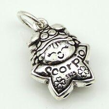 S925 Stamped Sterling Silver Scorpio Horoscope Zodiac Baby Star Pendant
