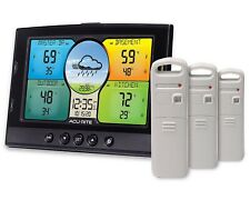 AcuRite Indoor Outdoor Weather Station 3 Temperature Humidity Sensors