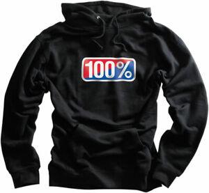 100% MX Motocross CLASSIC Pullover Hoodie Sweatshirt (Black) 2XL (2X-Large)