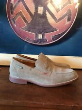 Mephisto Spinnaker Mens 8 US EU 7.5 Grey Suede Leather Penny Loafers Air Jet