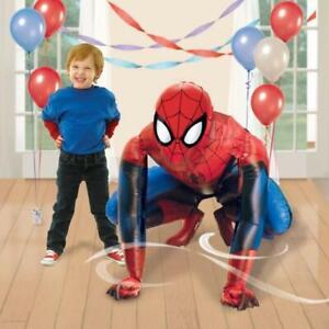 BALLON GONFLABLE SPIDERMAN HOMME ARAIGNEE MARVEL ENFANT FETE 91x91cm !!!