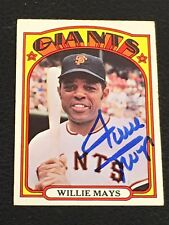 HOF WILLIE MAYS 1972 TOPPS SIGNED AUTOGRAPHED CARD #49 GIANTS SGC AUTHENTIC