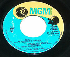 "THE OSMONDS<>CRAZY HORSES<>7"" SINGLE<>1972  ~~"