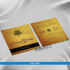 Asian Indian Traditional Elegant Wedding Card invitations up to 500