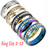 Sz5-13 Men/Women CZ Couple Stainless Steel Wedding Ring Titanium Wedding Band