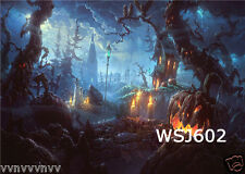 7X5FT Scary Halloween Night Vinyl Background Photography Props Backdrop WSJ602