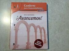 ! Avancemos! Ser.: Avancemos! Cuaderno para Hispanohablantes (Paperback)