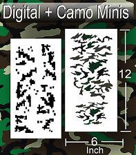 airbrush stencil Camo Digital Woodland Small Templates Stencils Spray Vision