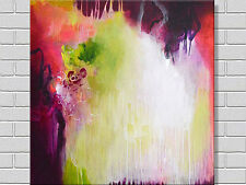 MODERN ABSTRACT HAND PAINTED OIL PAINTING ON CANVAS 80 x 80 FRAMED WALL ART