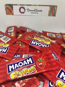 20 x HARIBO MAOAM STRIPES FRUIT CHEWS SWEETS KIDS PARTY CHOOSE UR OWN FLAVOUR