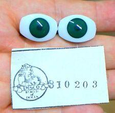 IMSCO Doll Eyes - FLAT BACK ACRYLIC - OVAL - 20mm EMERALD GREEN - 310203