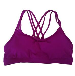 Womens Athleta Hyper Focused Pink Sports Bra Size Medium Removable Pads