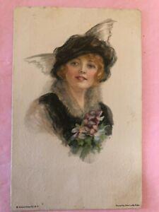 "Vintage POSTCARD ""American Girl No. 69"" by artist Alice Luella Fidler 1917"