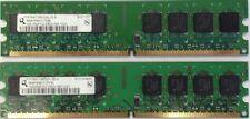 2GB 2x 1GB PC2-5300 DDR2 667 240 pin Non-ECC DIMM Desktop Memory RAM Dell HP IBM