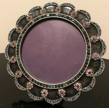 """Jay Strongwater Scalloped Edge Round Frame5"""""""