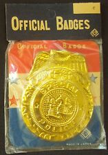VINTAGE DIME STORE TOY POLICE BADGE Made in Japan 1950-60's New Old Stock NOS