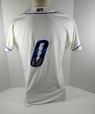 2019 Omaha Storm Chasers #0 Game Used White Jersey OSC0059