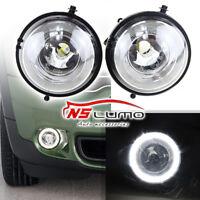 Halo Angel Eyes Style LED DRL Daytime Running Lights Fog Lamps For MINI Cooper