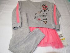 Guess Kids Girl's 2 Piece LS Outfit, Size 5/6