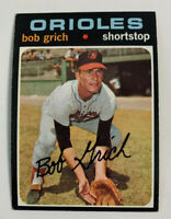 1971 Bob Grich # 194 Rookie RC Baltimore Orioles Topps Baseball Card
