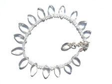 Bergkristall-Crystal Tropfen Armband 19,5-21,5 cm 925 Silber Nr. 3164